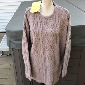 Aran crafts merino wool sweater new with tags